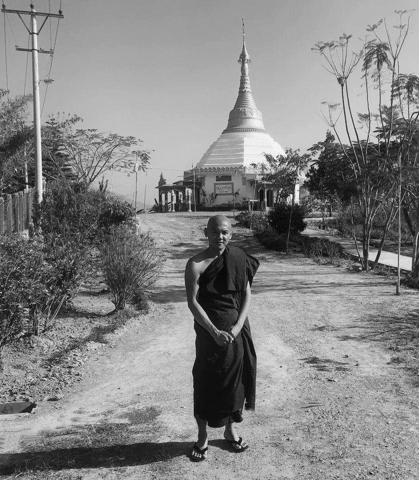 search for happiness: a Burmese ex-businessman became a Buddhist monk